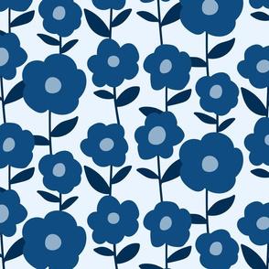 Classic Blue Peonies