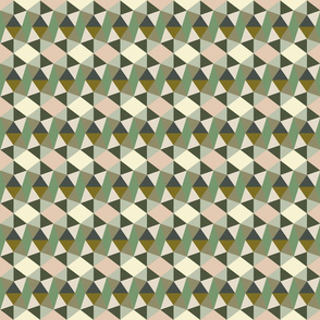 pentagons green and sand