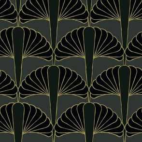 Art Deco Lilly Midnight