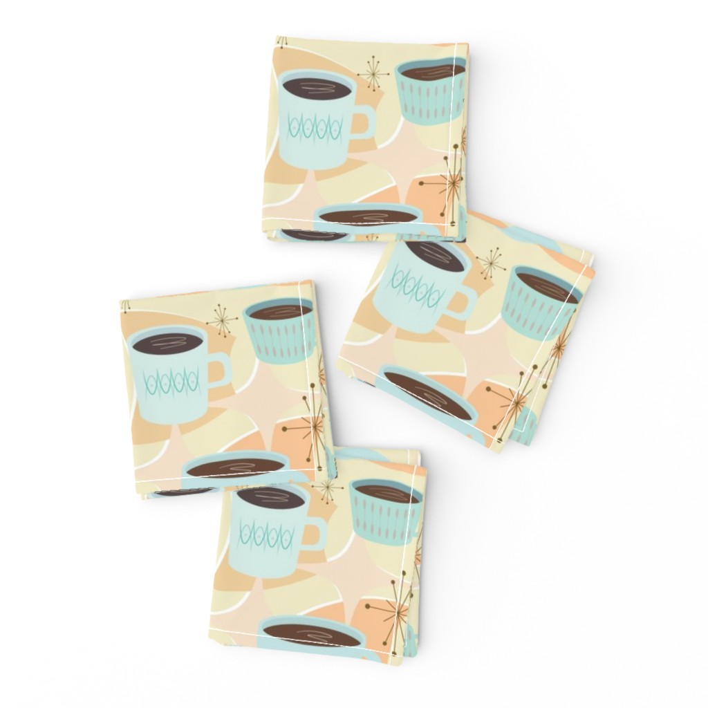 Frizzle Cocktail Napkins featuring atomic cup o joe by flossiesgrand