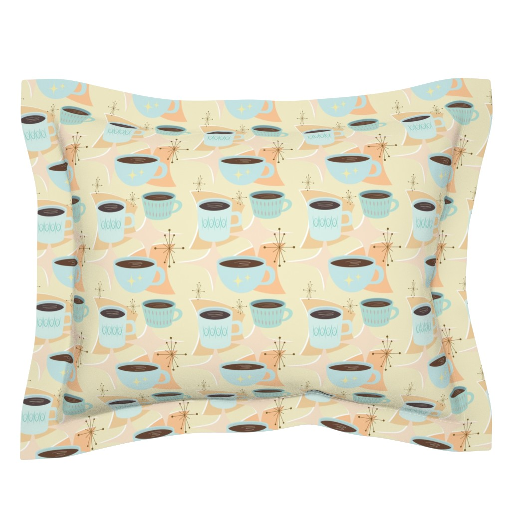 Sebright Pillow Sham featuring atomic cup o joe by flossiesgrand