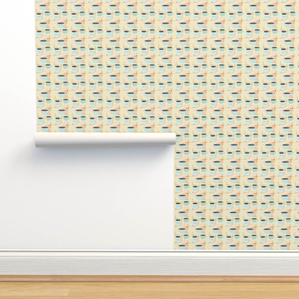 Isobar Durable Wallpaper featuring atomic cup o joe by flossiesgrand