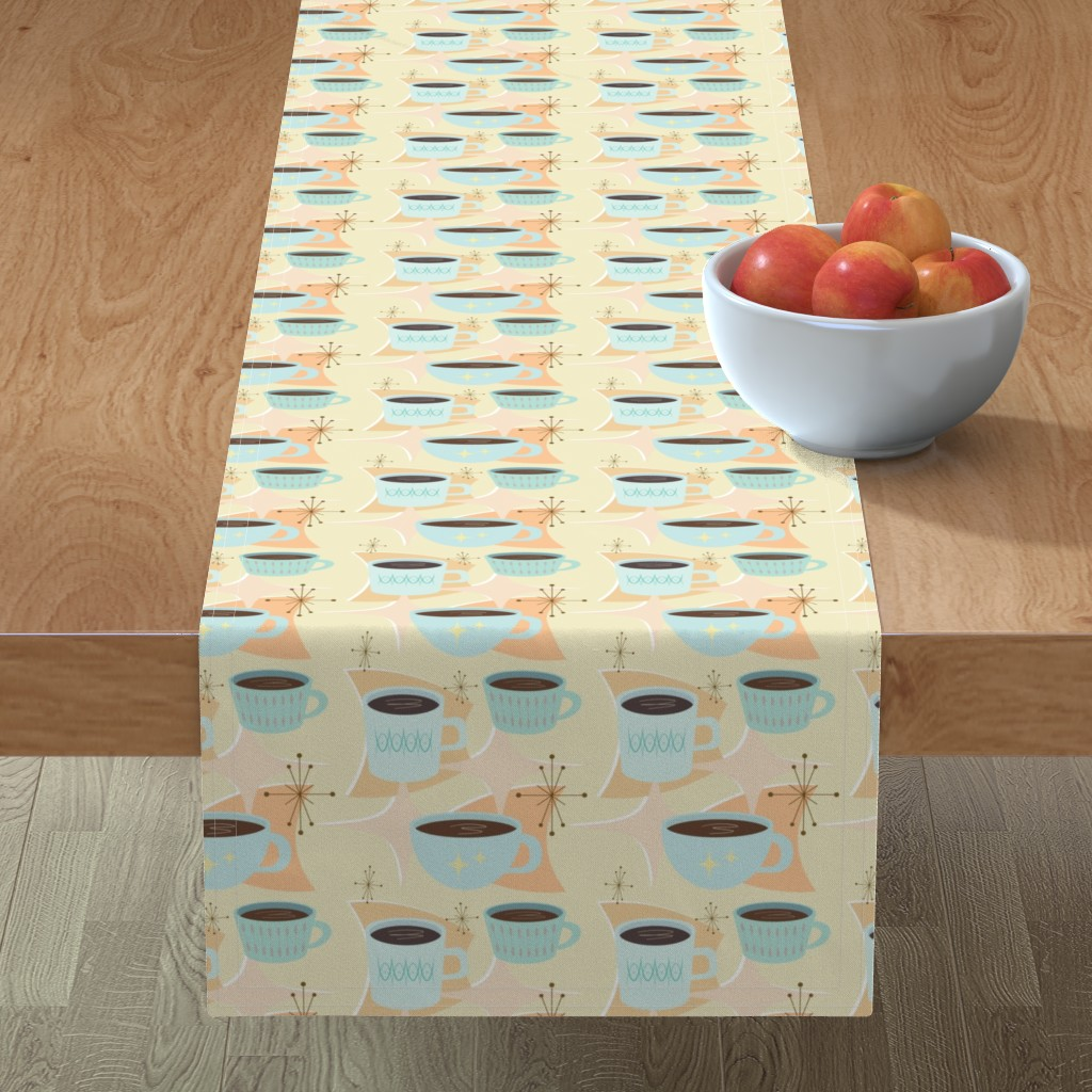 Minorca Table Runner featuring atomic cup o joe by flossiesgrand