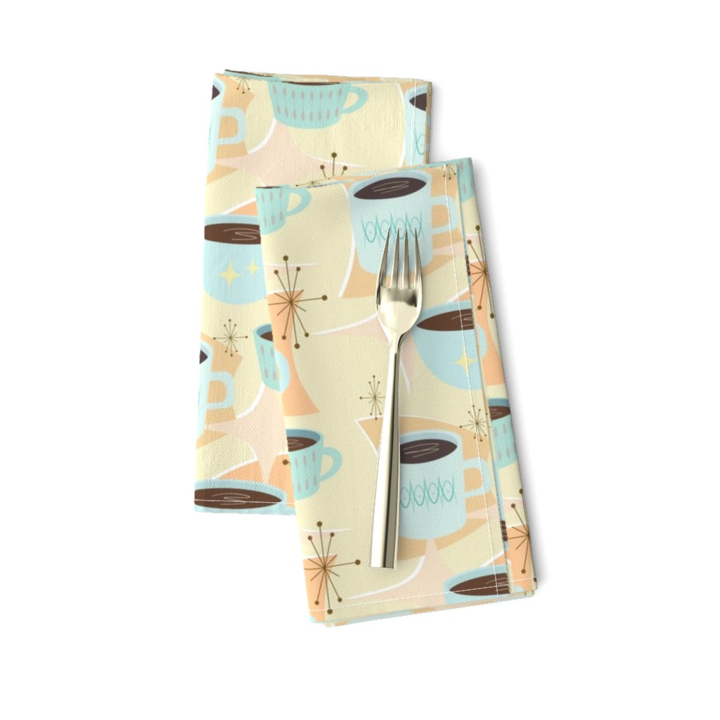 Amarela Dinner Napkins featuring atomic cup o joe by flossiesgrand