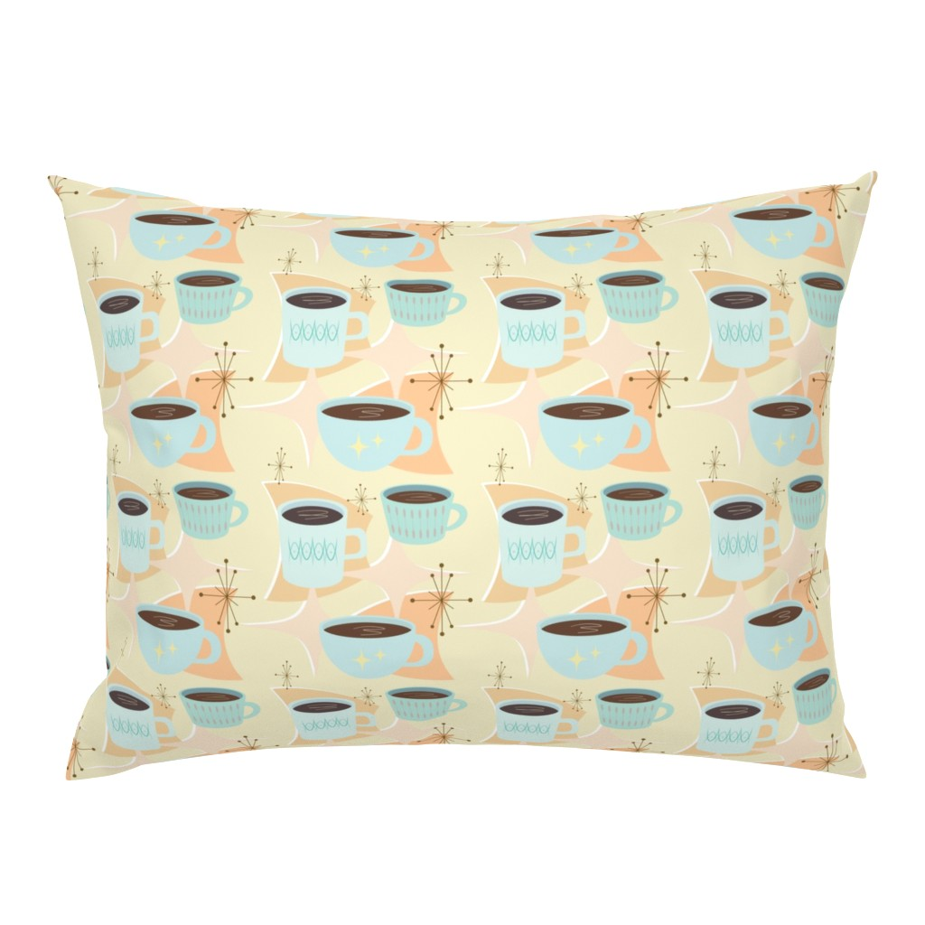 Campine Pillow Sham featuring atomic cup o joe by flossiesgrand