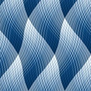 Wavy Blue Plaid 2
