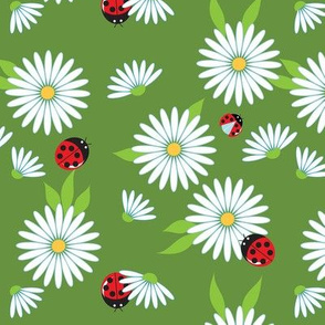 Daisies and ladybugs, small