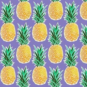Tropical Geometric Pineapple - Purple