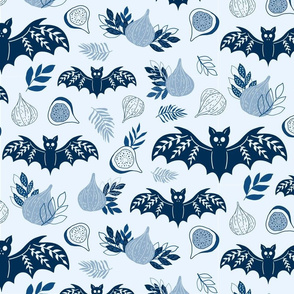 Figs and Bats in Blue