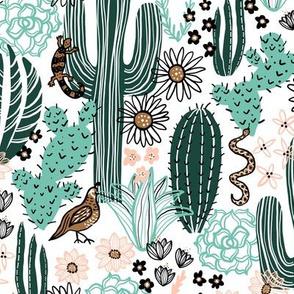 Sonoran Landscape (White)