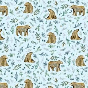 Cute bears. Blue pattern