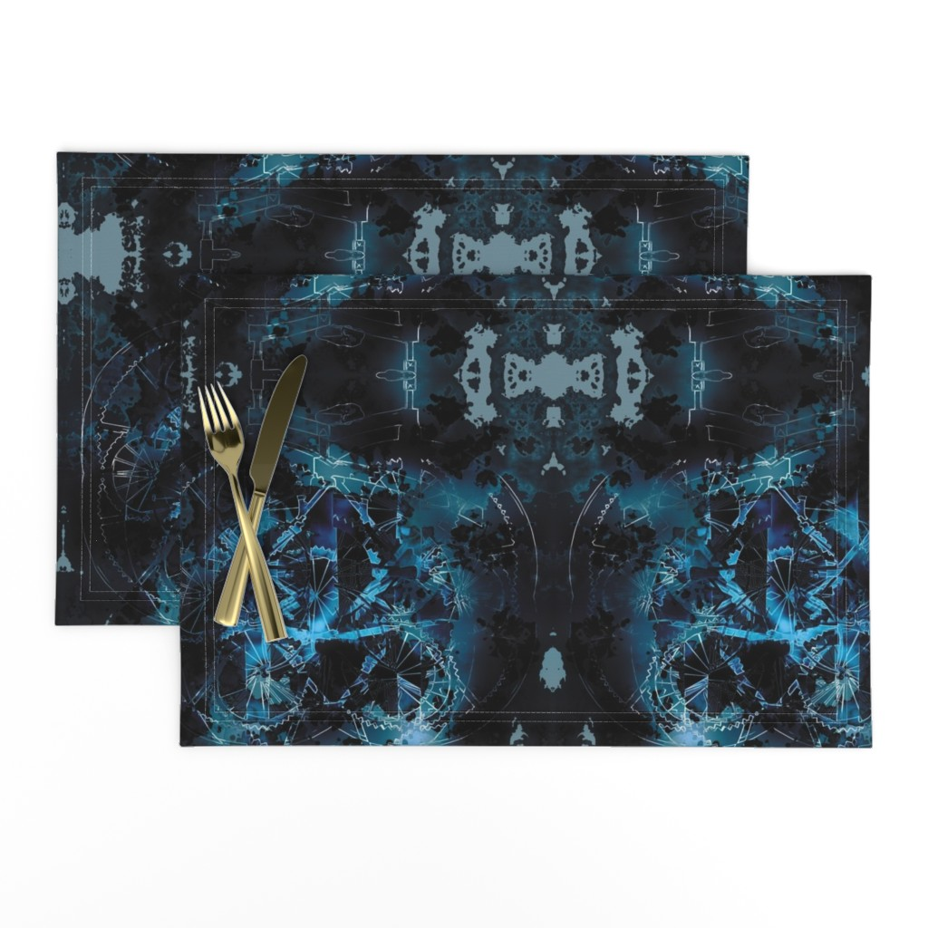 Lamona Cloth Placemats featuring Wheels 4 by animotaxis