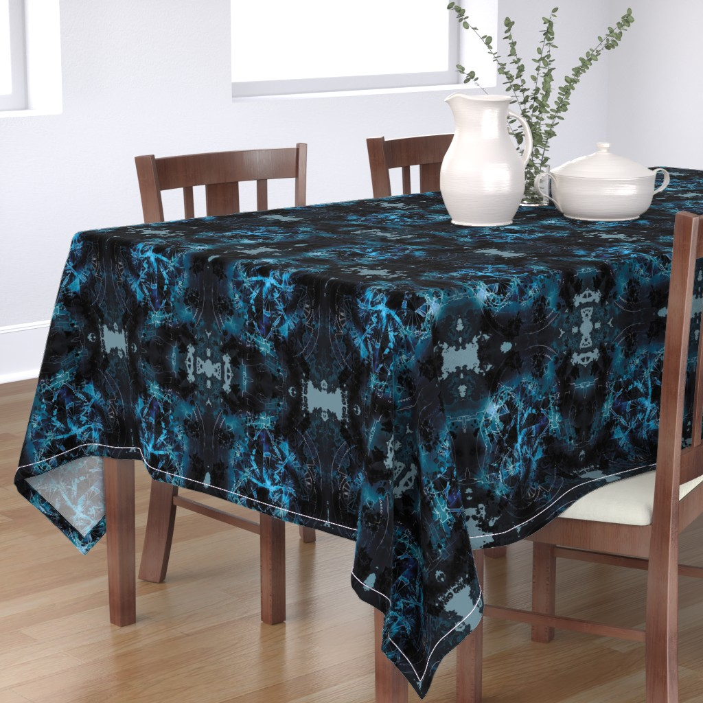 Bantam Rectangular Tablecloth featuring Wheels 4 by animotaxis