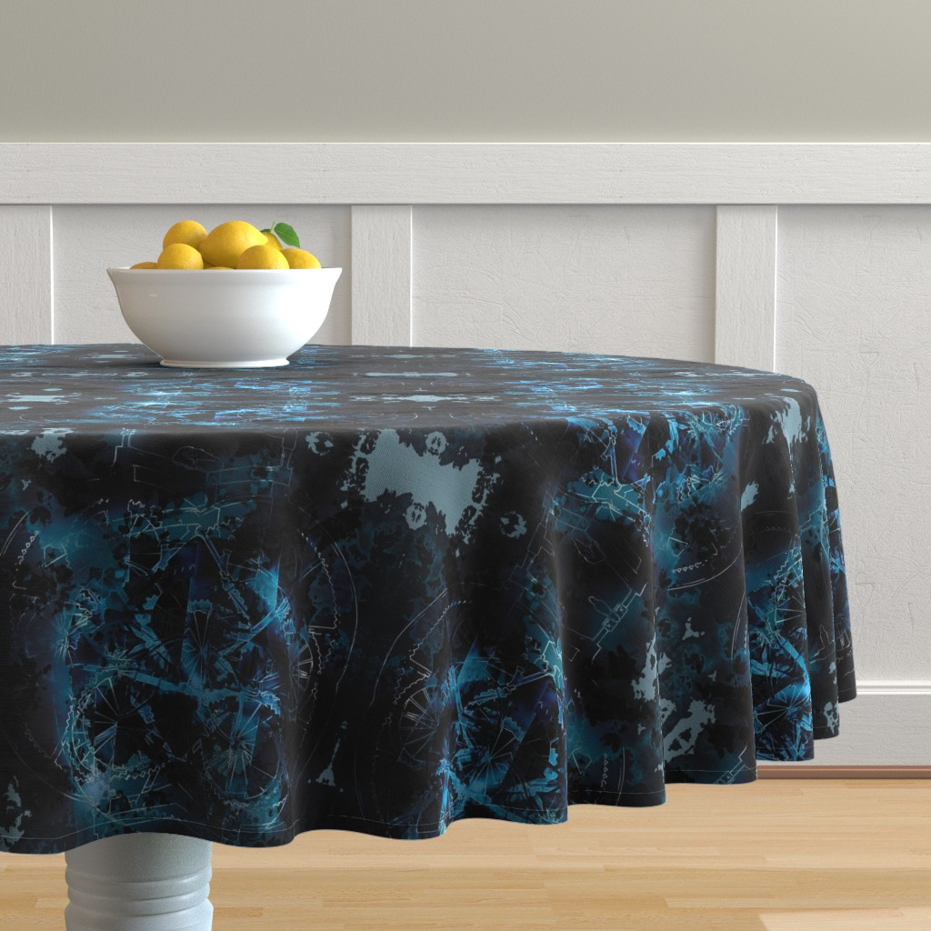 Malay Round Tablecloth featuring Wheels 4 by animotaxis