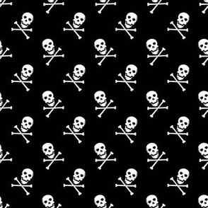 Mini skulls and crossbones // b + w