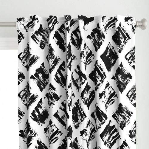 Black and White Painted Diamonds - Large Scale