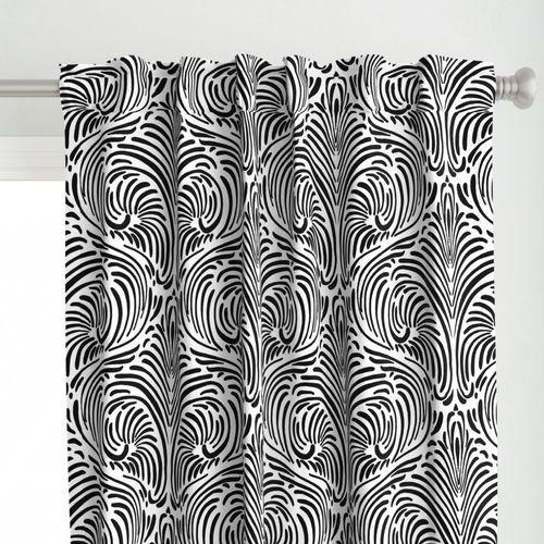 Animalia- Black on white - large scale