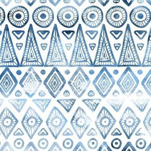 Ethnic pattern. Classic blue
