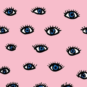Little flirty blue eyes and lashes love flirt valentine make up  pink nursery