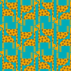 giraffe blue background