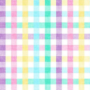 Easter Plaid - Spring Plaid - Easter egg colors - Gingham Check - LAD20