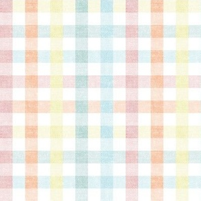 Easter Plaid - Spring Plaid - pastel- Gingham Check - LAD20