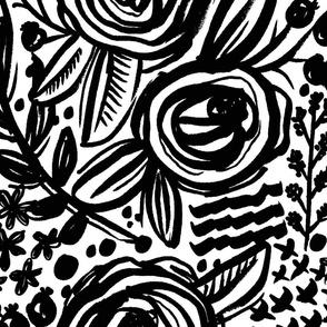 Black Painted Roses