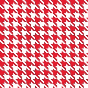 Houndstooth 3/8th inch in Classic Red