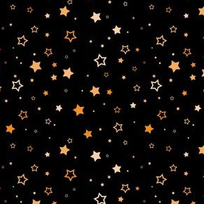 Orange scattered stars - mini