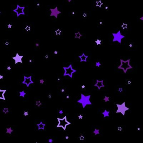 Purple scattered stars - small