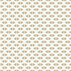 Gold and Aqua Blue Diamond Pattern Dots