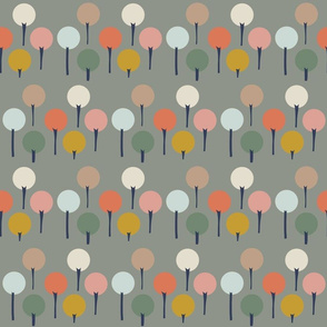 Color Pop Trees in Grey