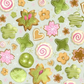 Green Tea Cookies / Small Scale