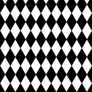 "Harlequin Diamonds ~ Black & White 2"" width"