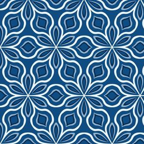 Classic Blue Simple Floral Pantone 2020