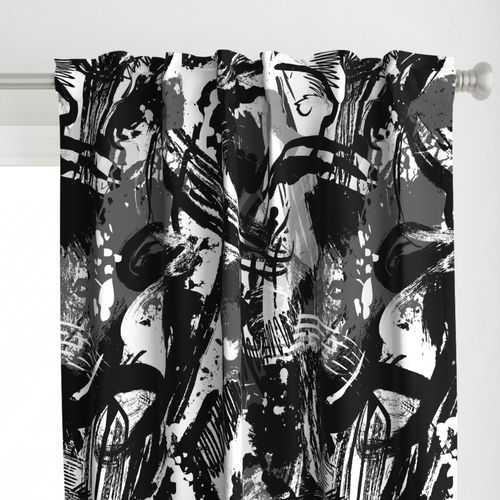 Black + White Abstract Painting