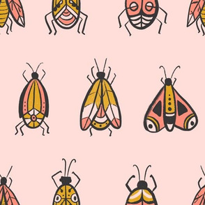 Pink bugs - larger scale