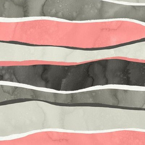Landscape Pink and Gray Stripes