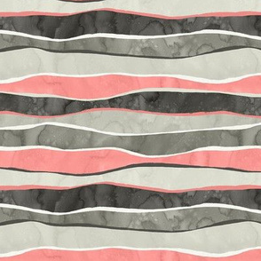 Landscape Pink and Gray Stripes / Small Scale
