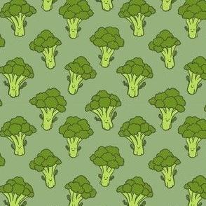 Happy Little Kawaii Broccoli Trees