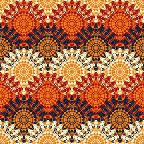 lacy mandalas in orange tones by rysunki_malunki