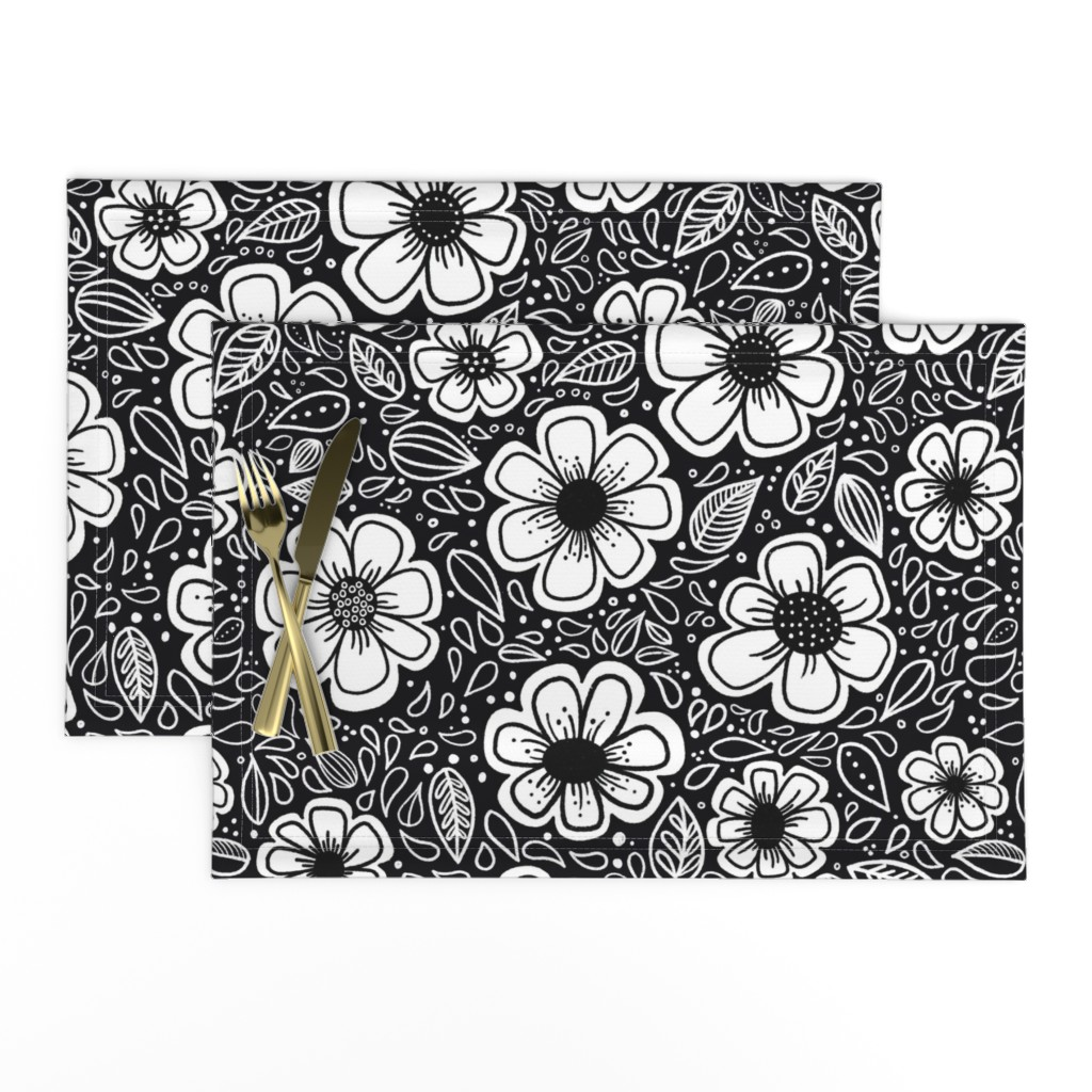Lamona Cloth Placemats featuring Happy Painterly Flowers by kathryncole