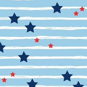 Navy red stars and stripes USA american national holiday 4th of july
