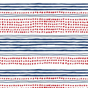 Navy red abstract mudcloth USA american national holiday 4th of july texas plaid