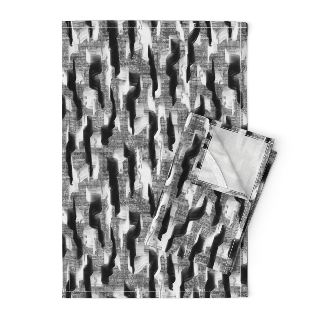 Orpington Tea Towels featuring painterly swirl modern abstract PSMGE by paysmage