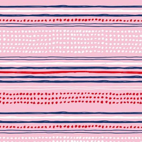 Navy red abstract mudcloth USA american national holiday 4th of july texas plaid pink