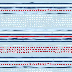 Navy red abstract mudcloth USA american national holiday 4th of july texas plaid blue