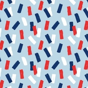 Navy red abstract minimal confetti strokes USA american national holiday 4th of july party blue