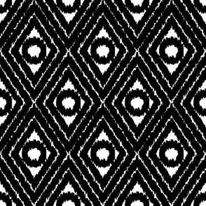 black and white diamond shapes by rysunki_malunki