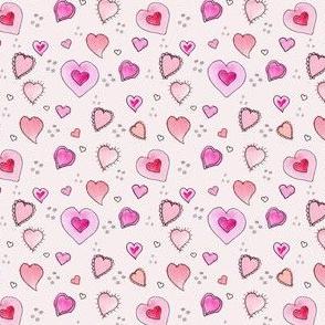 Dainty Pink Valentine Hearts